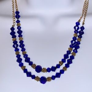 Frequency of Cobalt Blue Glass Beads & Gold-tone